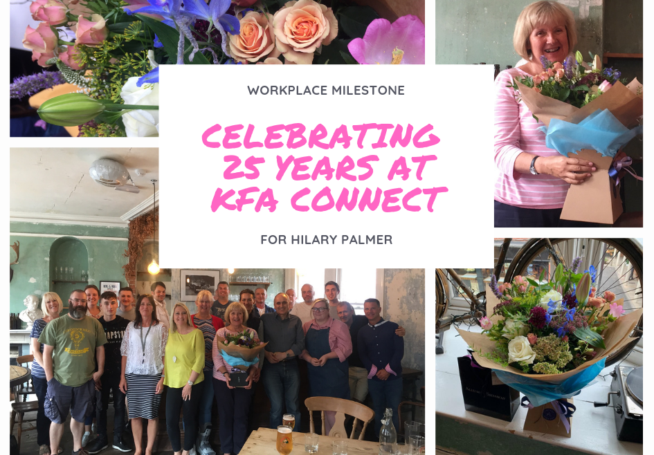 25 year Work Anniversary for Hilary 945x658 - Hilary Celebrates 25 years at KFA!