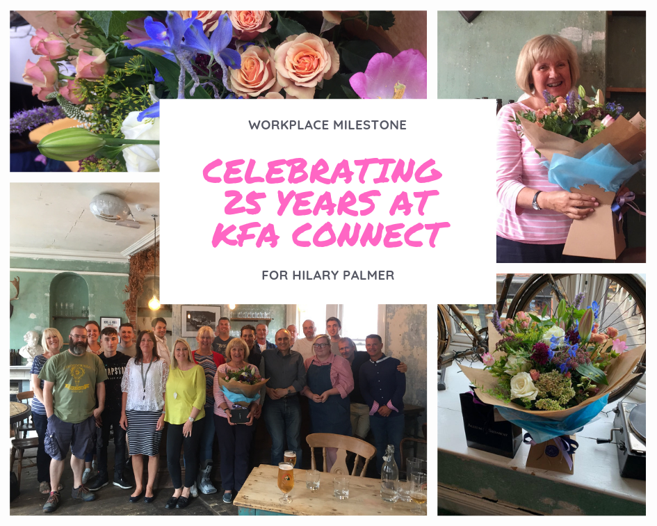 25 year Work Anniversary for Hilary - Hilary Celebrates 25 years at KFA!