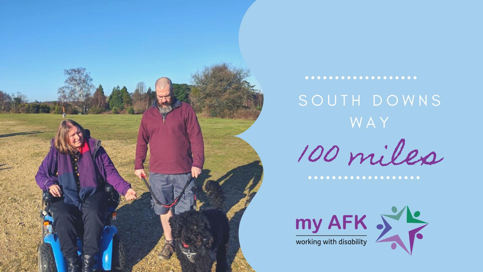 Dan Anna South Downs Way for my AFK 2020  - Dan & Anna take on South Downs Way for 'my AFK'