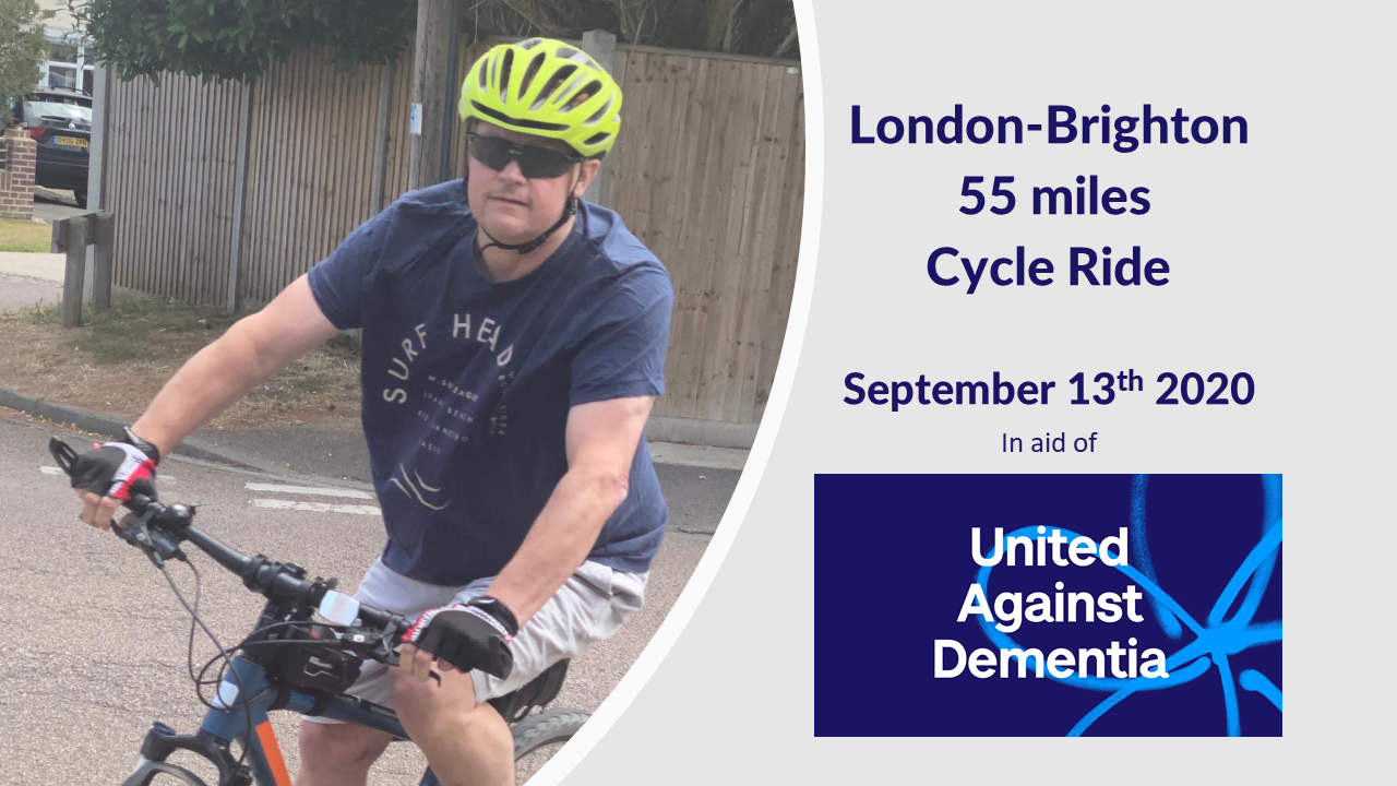 Dave London Brighton - Development Manager Dave, Cycles London-Brighton for Alzheimer's Society