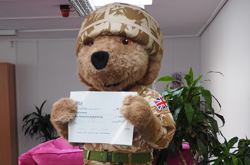 Help for Heroes Bear - The KFA Connect team were very excited last week when the Help for Heroes Bear arrived at our Ringwood office!!