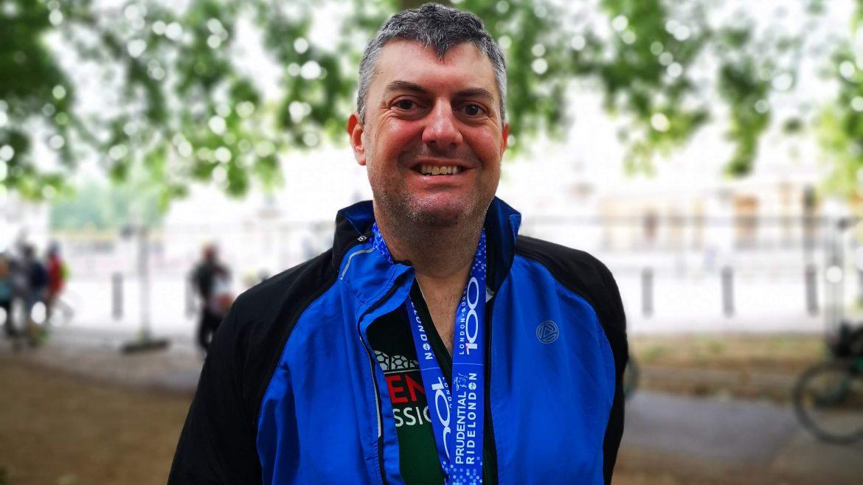 Jim with Medal 1170x658 - Jim did it! RideLondon-Surrey for Naomi House & Jacksplace