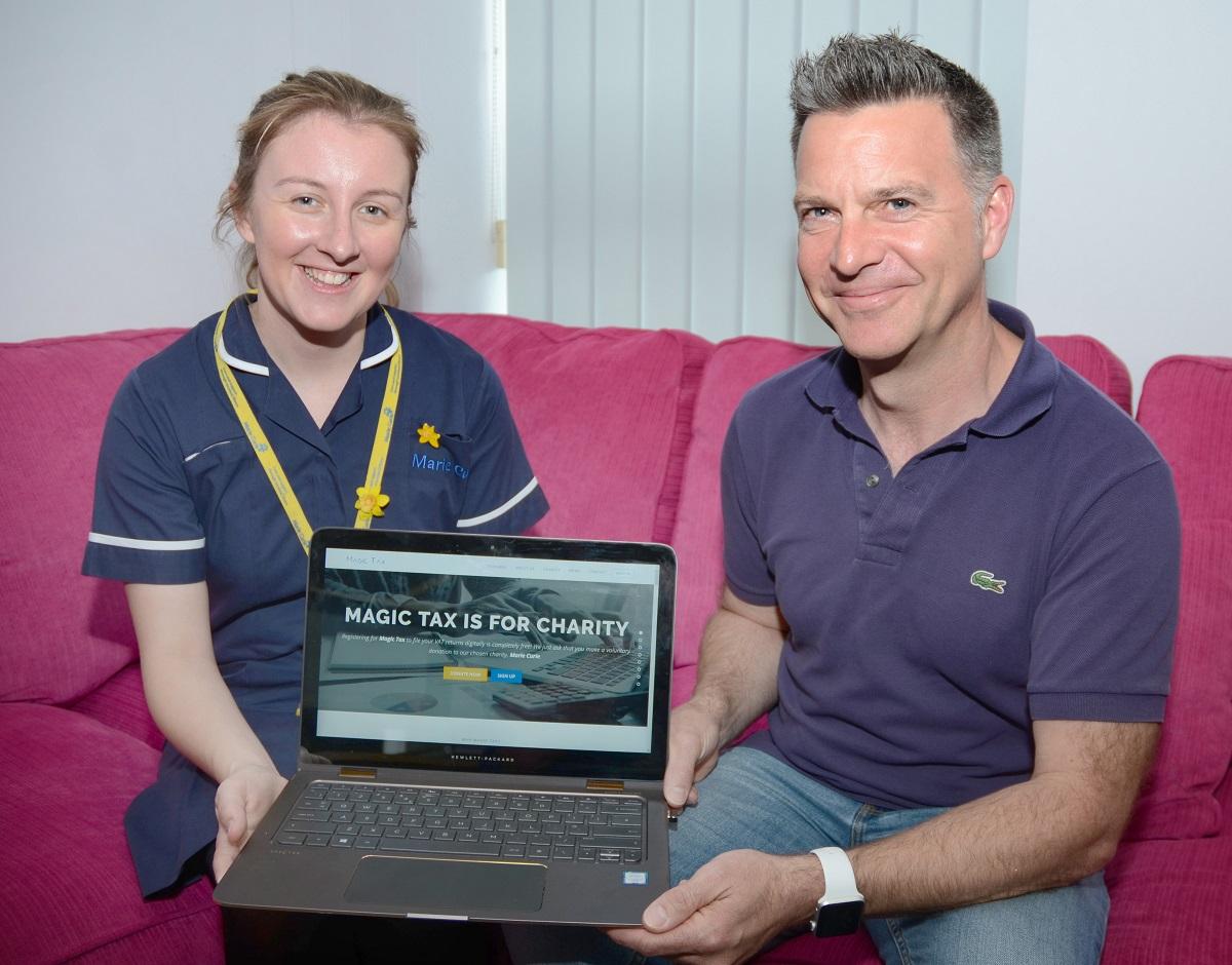 KFA Magic tax Fiona Brown Richard Austin - Hampshire's Marie Curie Nurse Manager, Fiona Brown Visits the KFA team.