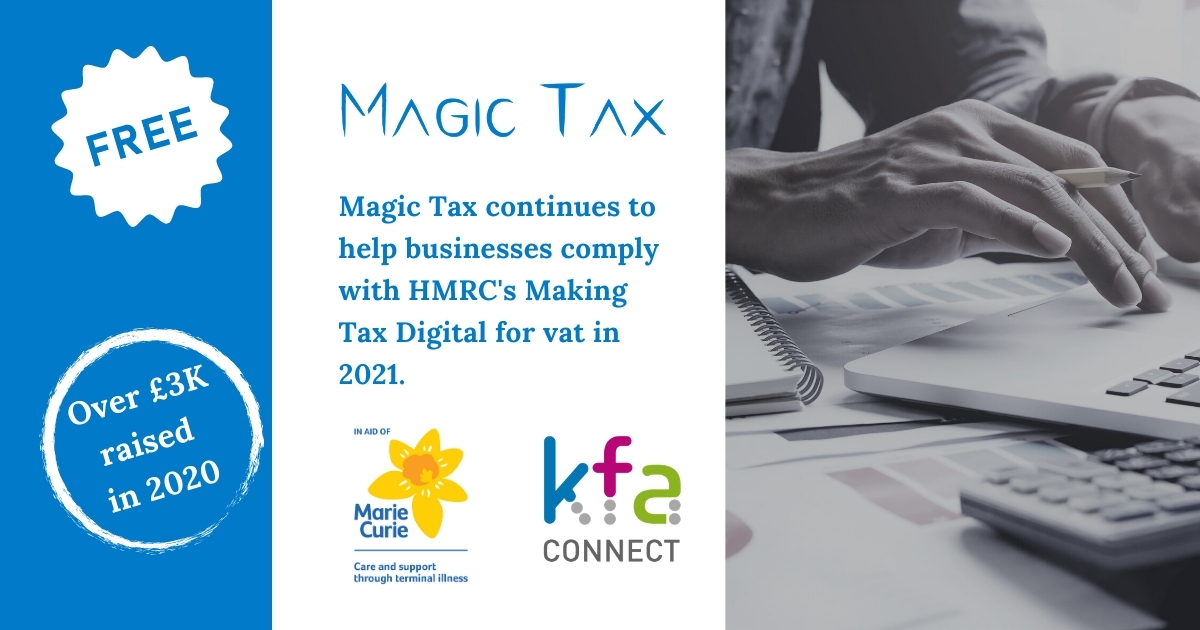 Magic Tax Update Jan 2021 - Magic Tax Continues to help businesses comply with Making Tax Digital in 2021