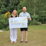 Naomi House Cheque presentation Gardening 2019 150x150 - Nicki visits Naomi House & Jacksplace to present cheque