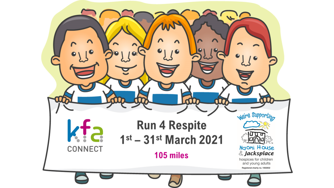 Run 4 Respite 2021 1170x658 - KFA 'Run 4 Respite' for Naomi House & Jacksplace - March 2021