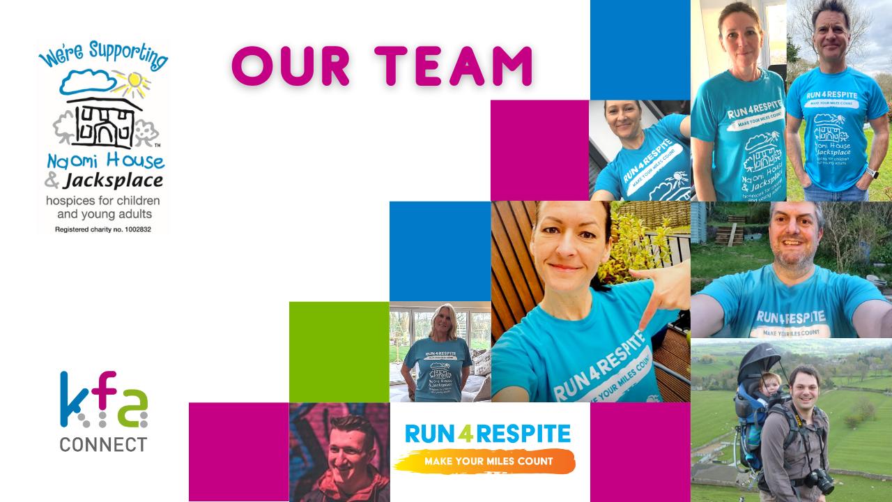 Run 4 Respite Team Pics 1 - Success for the KFA team in 'Run 4 Respite' - Day 26