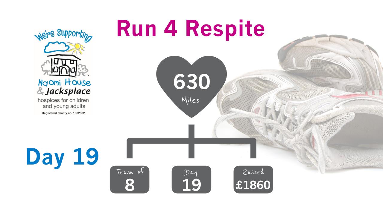 Run 4 Respite Update Day 19 - Photography skills have emerged in 'Run 4 Respite' - Day 19