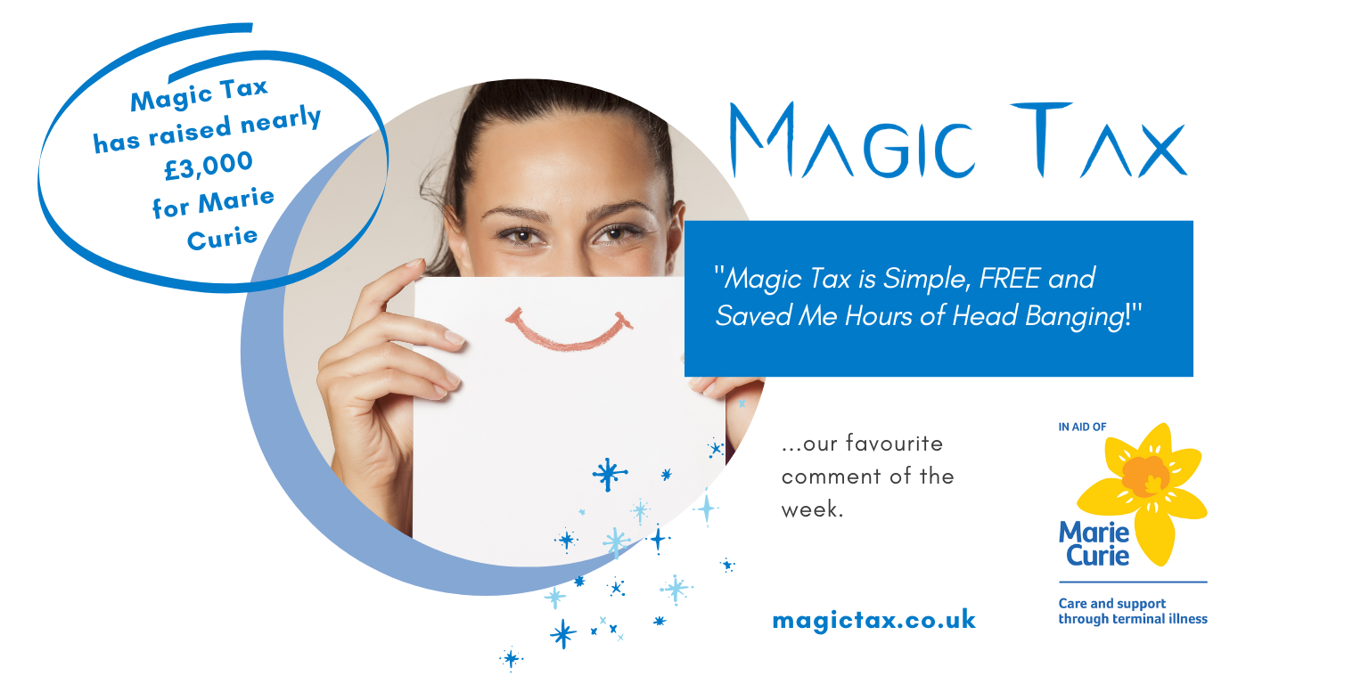 "Thank You - ""Magic Tax is Simple, Free and saved Me Hours of Headbanging!"""