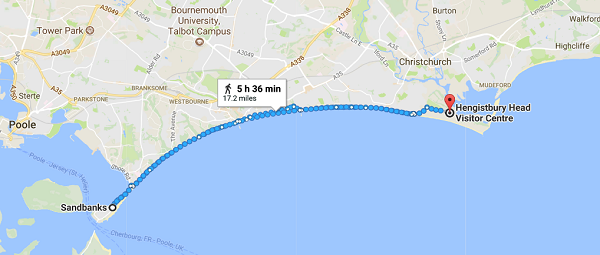 Walk for Wheels Map reaized - KFA Test Team - Beachfront Charity Walk for Friedreich's Ataxia